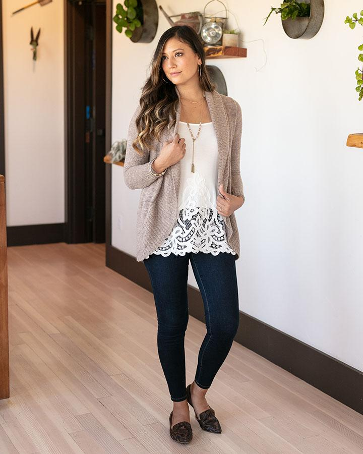 Grace & Lace | Applique Lace High-Low Extender | Ivory