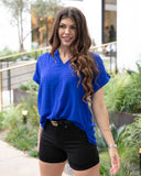 Grace & Lace Ashley Top - Cobalt