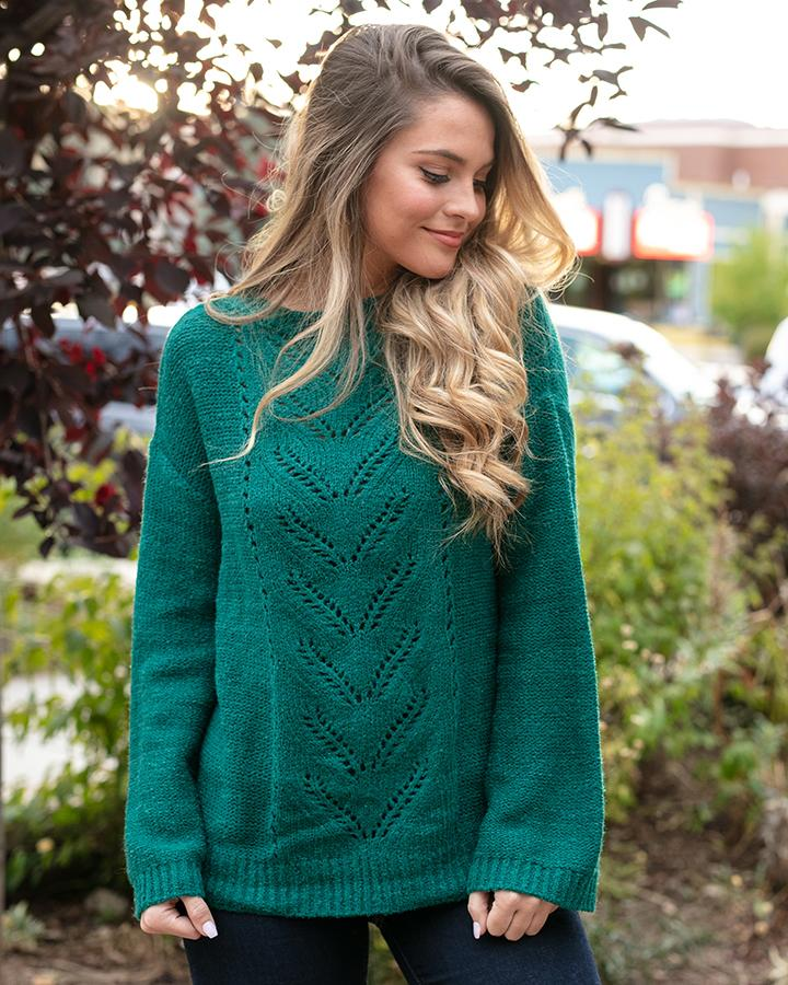 Grace & Lace Baby Loop Knit Sweater - Emerald