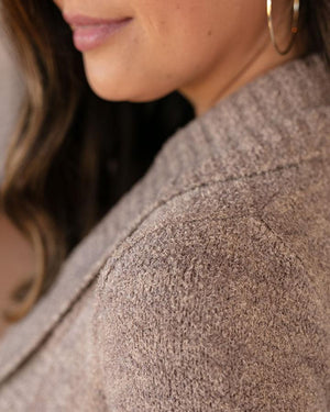 Grace & Lace Lush Bambu Circle Cardi | Heathered Taupe