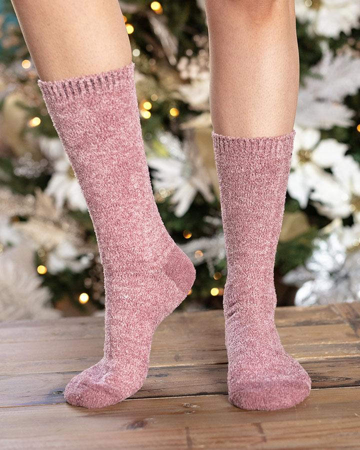 Grace & Lace | Bambu Socks | Heathered Rose
