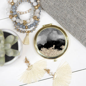 Black Marble Cosmetic Mirror