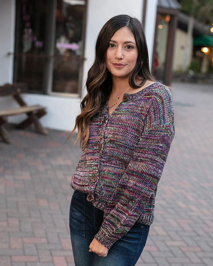 Grace & Lace | Button Up Sweater | Multicolour