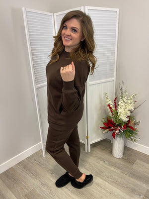 *FINAL SALE* Cozy Up Matching Set |2 Piece| Brown