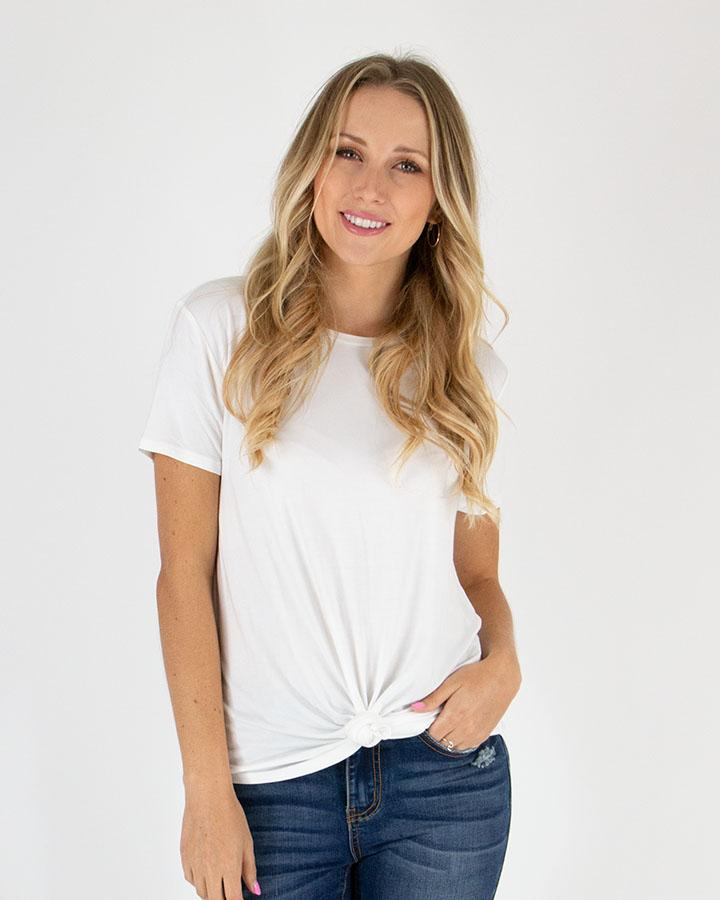 Grace & Lace Perfect Crew Neck Tee - Ivory