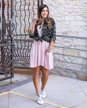 Grace & Lace | Everyday Basic Pocket Dress | Blush Pink