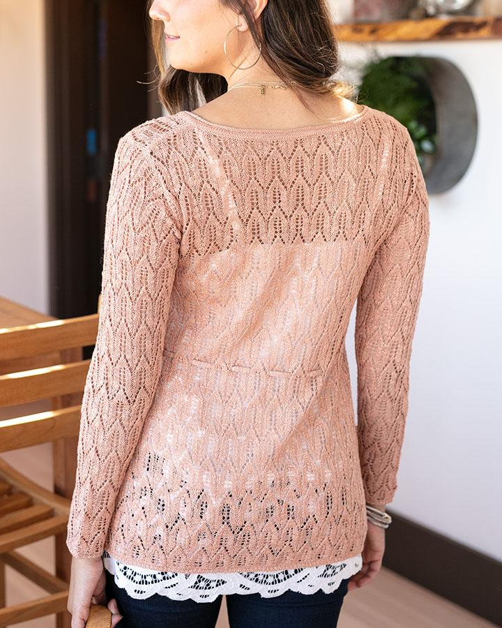 Grace & Lace | Fairy Tale Tie Sweater | Rose Gold
