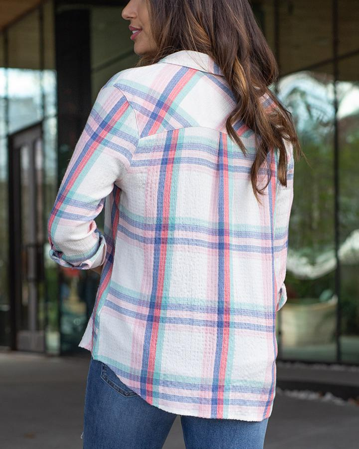 *FINAL SALE* Grace & Lace Favourite Button Up Plaid | Spring Days Plaid