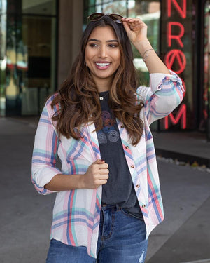 Grace & Lace Favourite Button Up Plaid | Spring Days Plaid
