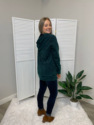 Maybe Baby ZIP Up Hoodie | Forest Green