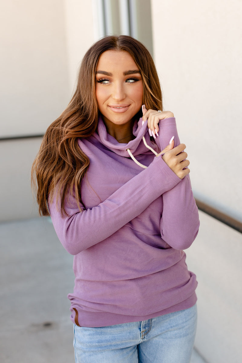 Ampersand Performance Fleece Cowlneck | Lilac