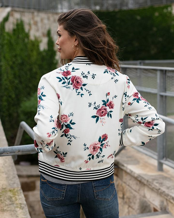 Grace & Lace | Floral Bomber Jacket | Rose Floral