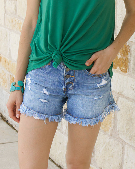 Grace & Lace Girlfriend Button Fly Shorts