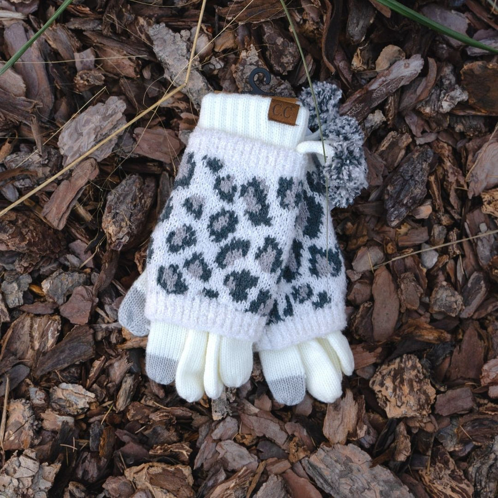 Leopard Gloves | Ivory