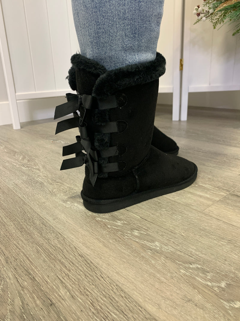 The Annie Bow Boots | Black