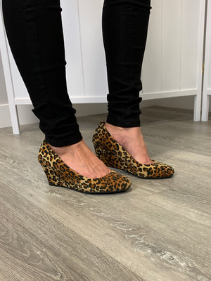 *FINAL SALE* Doris Wedges | Suede | Leopard