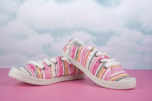 Sutton Sneakers | Pink Stripe