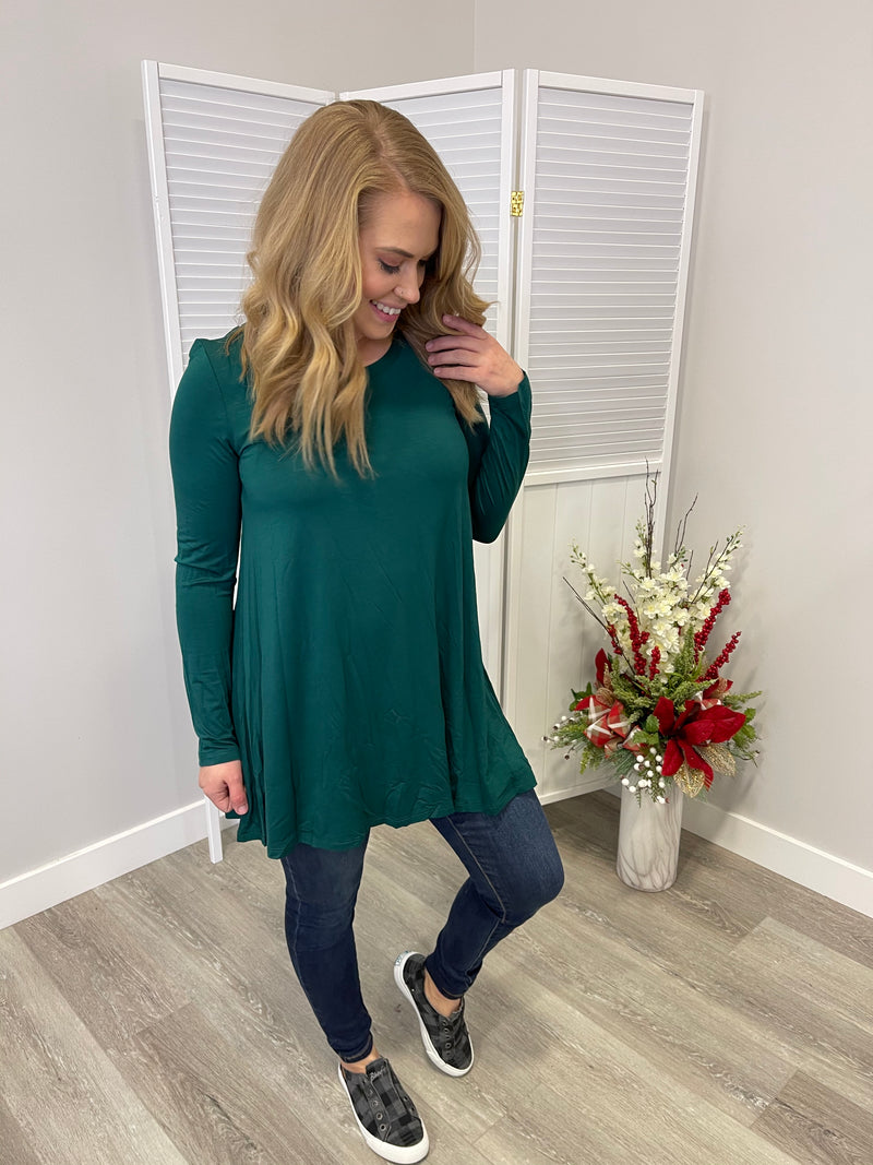 *NEW* Everyday Tunic | Hunter Green