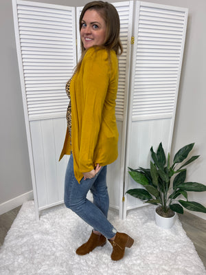 *FINAL SALE* Noah Basic Cardigan | Mustard