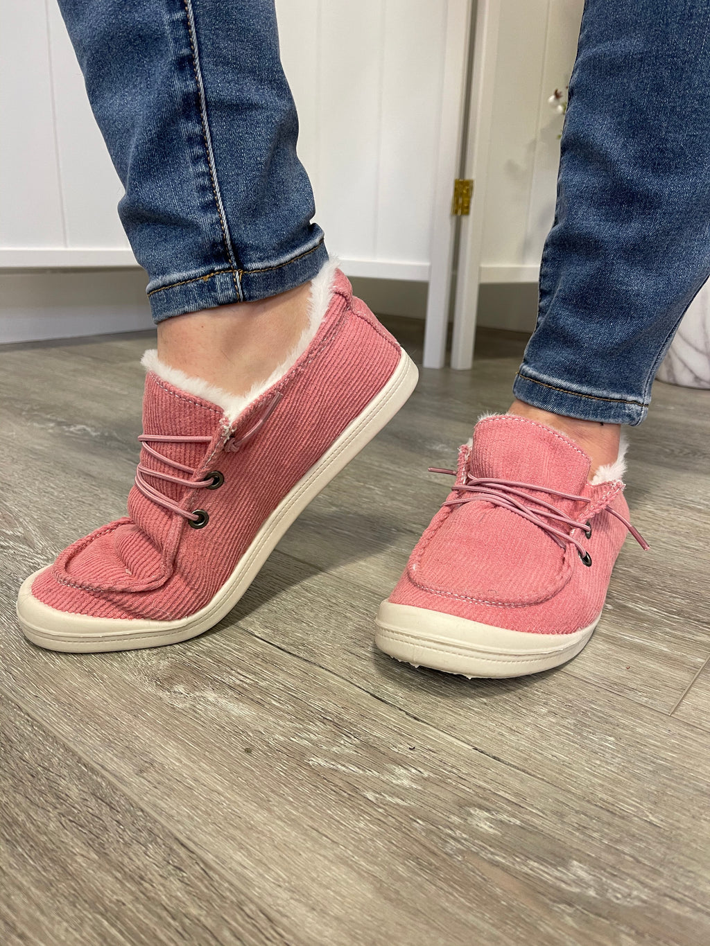 Theo Teddy Sneakers | Mauve