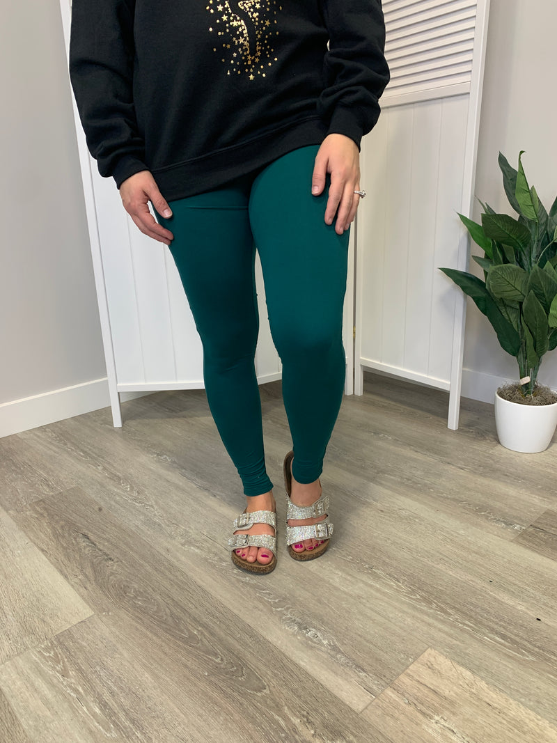 Jessie Microfiber Leggings | Deep Green