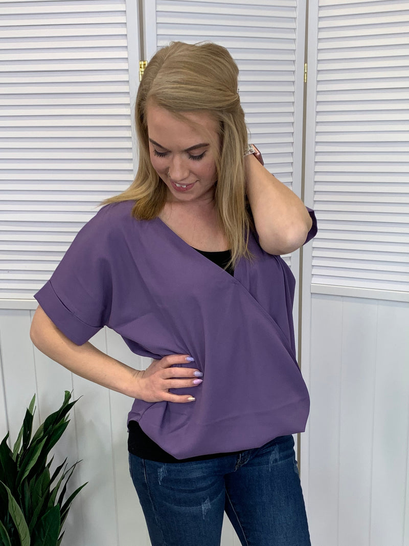 Perfect Layered Top - Lilac Grey