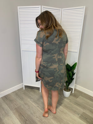 Wilderness Dress - SHORT - GREEN Camo