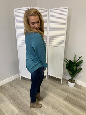 Melissa LONG Sleeve Sweatshirt | Dusty Teal