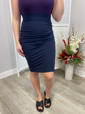 *FINAL SALE* Elite Pencil Skirt - Navy