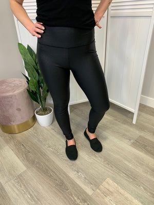 Highwaisted Pebble Leggings - Black