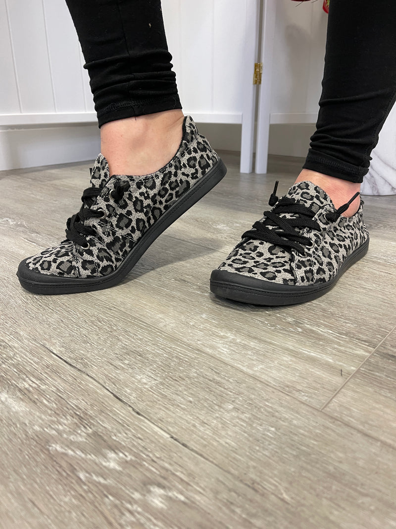 *FINAL SALE* Sutton Sneakers | Grey Leopard