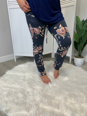 Jackie Joggers | NAVY FLORAL