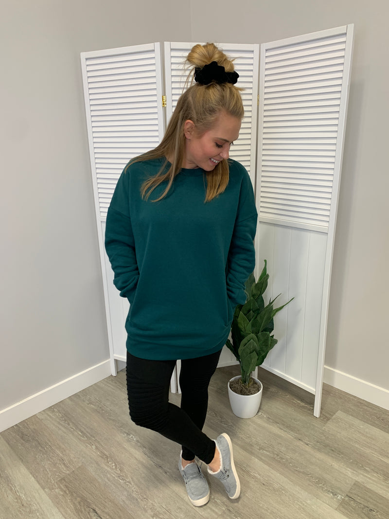 Cozy Sweatshirt | Deep Green