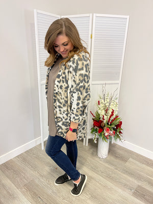 *FINAL SALE* Willa Leopard Cardi | Brown