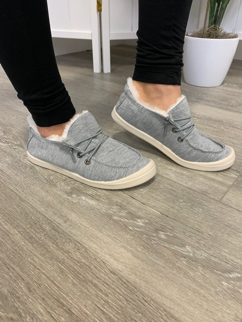 Theo Teddy Sneakers | Light Grey