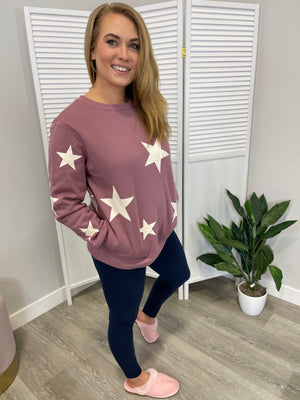 *RESTOCK* Wish Upon A Star Sweater | Light Rose & Ivory