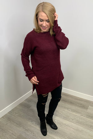 Lola Sweater - Burgundy