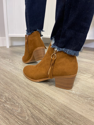 Zandra Booties | Chestnut