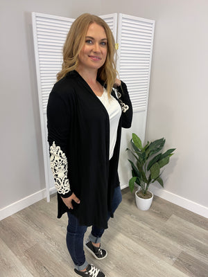 *FINAL SALE* Lexi Crochet Detail Cardigan - Black