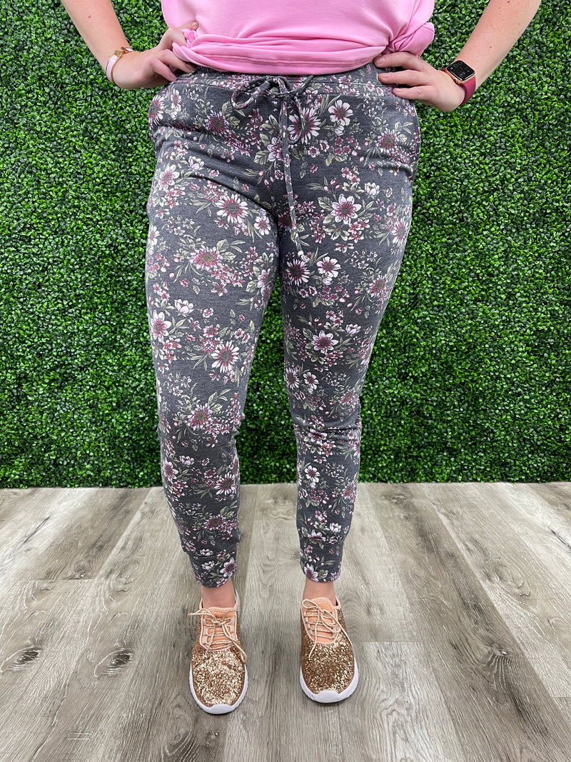 *NEW* Joan Floral Joggers | Wispy Willow