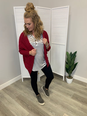 Emmy Dolman Pocket Cardi | Raspberry