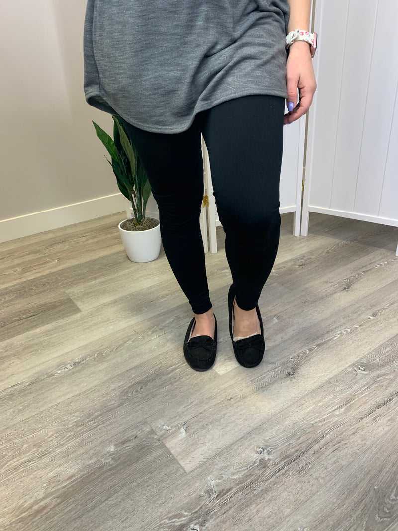 Fleece Lined Leggings - Black