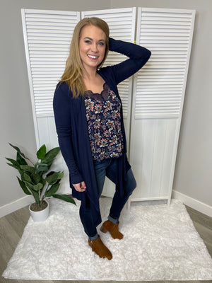 *FINAL SALE* Margot Cascade Cardigan | Navy