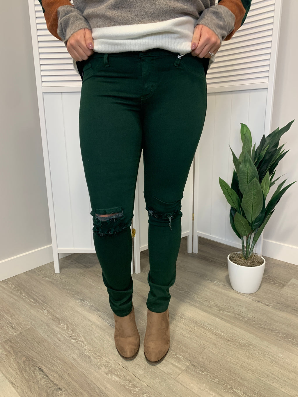 KanCan Jeans | Distressed Hunter Green | Xander
