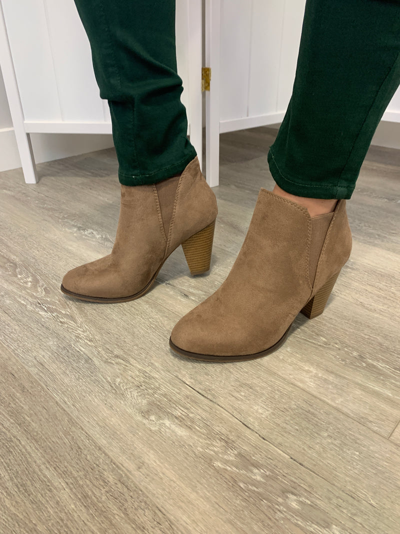 Camila Booties | Taupe