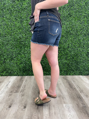 Judy Blue Denim | Camo Patch Shorts | Olsen