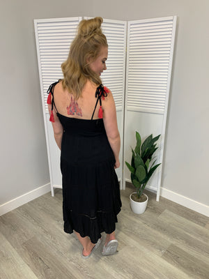Emily Embroidery Dress - Black