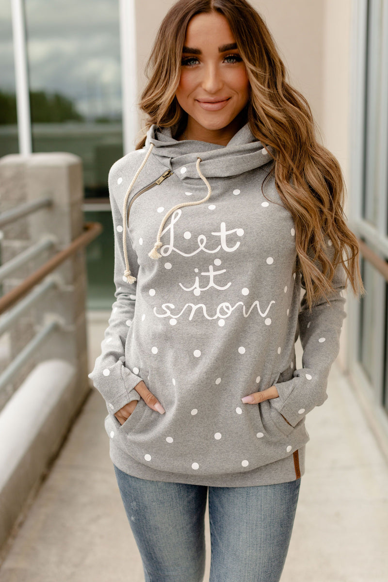 Ampersand Doublehood Sweatshirt | Let It Snow