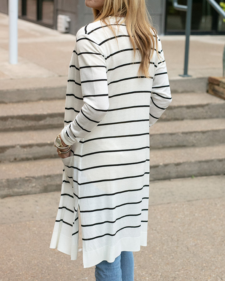 Grace & Lace Lightweight Striped Duster