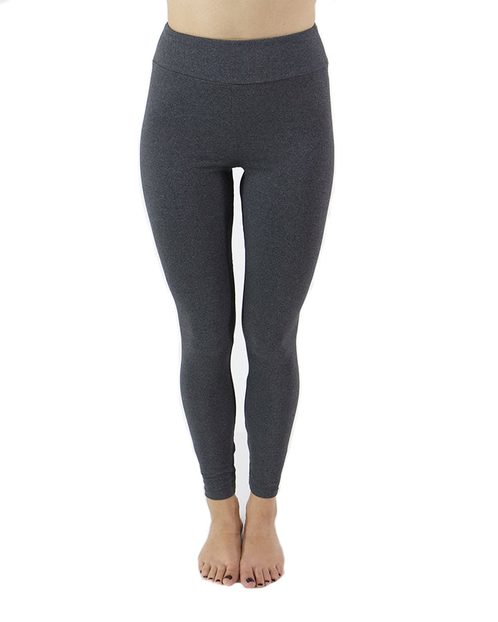 Grace & Lace Live-in Leggings - Heathered Charcoal